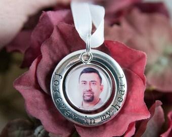 Bridal Bouquet Charm, Custom Photo, Memorial Charm, Bridal Charm, Wedding Charm, Forever In My Heart