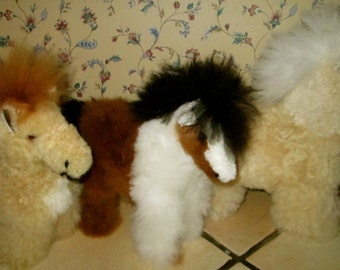 Regal Ponies Hand Made of Alpaca Fur Very Soft & Fluffy Horses