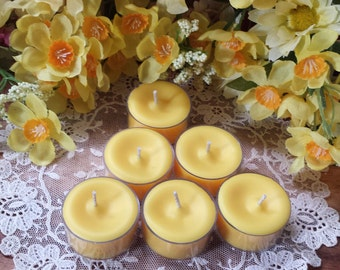 Daffodil Fields Tea Lights Candles, Spring Candles, Ostara Candles