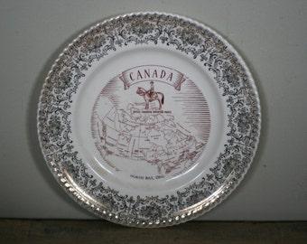 vintage canada souvenir plate