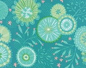 Coral Queen of the Sea by Stacy Iest Hsu for Moda ~ 100% Cotton BTY ~ Lagoon  20513-14