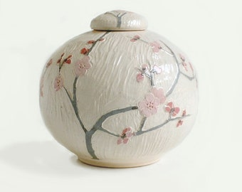 Tiny Cherry Blossom Vase - wedding, ceramics, pottery, flowers