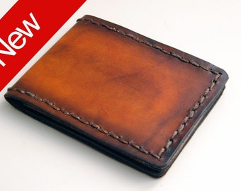 Mini Bifold, The Classic - Brown, Minimal wallet, small wallet, wallets for men, mens wallet, slim wallet, mens leather wallet