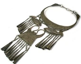 Vintage Tribal Jewelry - Ethnic Necklace - Afghan Choker - Fish - Bohemian boho Kuchi jewelry