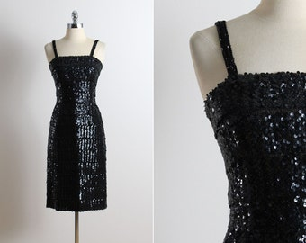 vintage 50s dress | Rembrandt 1950s dress | sequin party dress xs/s
