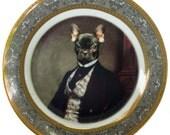 """NEW PORTRAIT*** Portrait of Bouledogue Français - Altered Plate 7.65"""""""