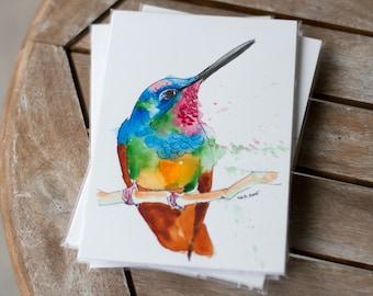 Hummingbird - Adopt-a-Pet series - Original - Watercolor Painting