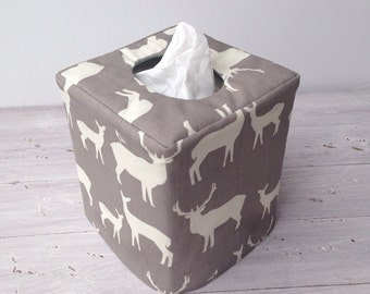 Elk Grove reversible tissue box cover