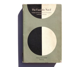 "Paul Rand book cover design, 1965. ""The 'I' and the 'Not-I': A study in the development of consciousness"" by M. Esther Harding."