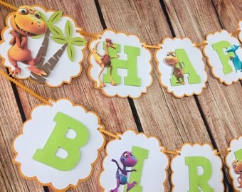 Dinosaur Train Personalized Banner/ cake topper/ paper straws/ cupcake toppers/ center piece/ welcome sign/ and more.