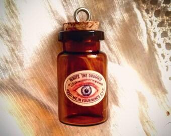 Tim Holtz Glass Vial Dr. White's Pharmacy