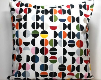 18 Inch Decorative Throw Pillow Cover - Colorful Dots Ikea Fabric Pillow Cover with Invisible Zipper Closure