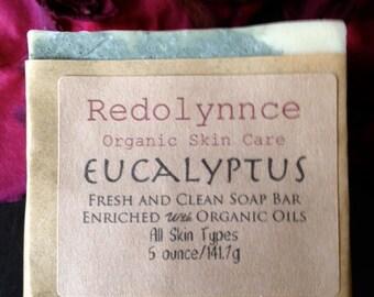 Eucalyptus--Organic Goat Milk Soap Bar made with Essential Oils. GMO free.
