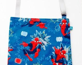 Washable, Eco-Friendly Car Trash Bag in Spiderman Fabric