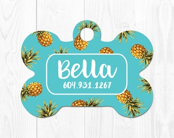 Dog Tags Pet ID Tags Dog Tag for Dogs Dog ID Tag Pineapple Dog Tag Pet Tag Dog Tag ID Custom Dog Tag Cute Dog Tag Custom Pet Tag
