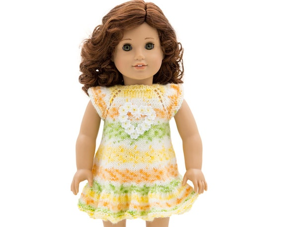 Knitting Pattern For 18 Inch Dolls Summer Dress For