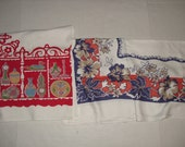 Two Vintage Large Tablecloths.