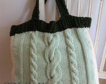 KNITTING PATTERN- The Market Bag/ Carry All Bag knitting pattern PDF