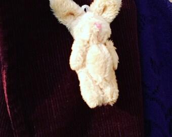 Cute, miniature, Bunny, rabbit, pastels, brooch, pink, white, beige, fluffy, rabbit brooch, by NewellsJewels on etsy
