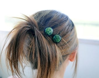 Walk on the Wild Side Button hair pins