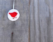 Maine Made Felt bird/Cardinal Ornament,Bird Ornament,Felt Ornament