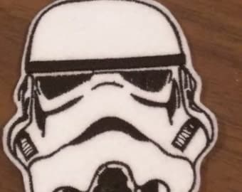 Embroidered Storm trooper Star Wars inspired iron on patch