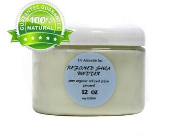 12 OZ Refined Shea Butter White From Ghana