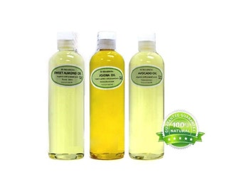 36 oz , 12 oz Sweet Almond Oil, 12 oz Avocado Oil, 12 oz Golden Pure Jojoba Oil