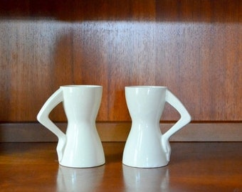 vintage figural ceramic coffee mugs