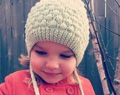 Bubbles Bonnet in soft kashmir blend yarn, unisex, size newborn to 4T - made to order