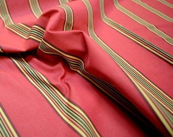 Stripe Red Fabric REMNANT 54 inches x 1.125 yards