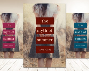 """Premade Digital eBook Book Cover Design """"The Myth of Summer"""" Story Literary Fiction YA Women Contemporary Romance Young Adult"""