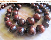 "20% OFF ON SALE 16"" long (31 pcs) RedTiger Eye Graduate Round Beads, Gemstone Beads"