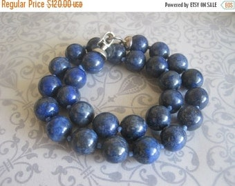 20% OFF ON SALE Hand Knotted Lapis Lazuli Necklace, Gemstone Jewelry, Blue Necklace
