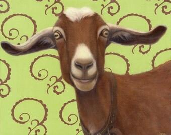Goat  - Goat Print - Goat Art for the Goat Lover - Funny Animal Art - 10% Benefits Animal Charity