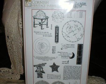Cornish Heritage Farms REACH 4 the STARS Rubber Stamps New in pkg & Un-mounted Beautiful 2009 Retired
