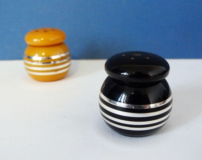 Vintage catalin salt and pepper pots West German