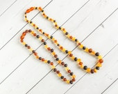 Mommy and Me Amber Necklace- Baltic Amber- Mommy Amber Necklace- Adult Amber - Amber Nursing Necklace - Amber Jewelry - Genuine Baltic Amber