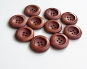 10 wood buttons 25 mm- round button