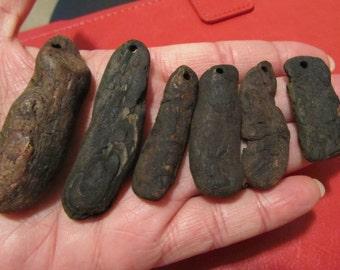 Driftwood Flat Pendants (6)
