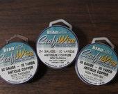 DESTASH Bead Smith Antique Copper Non Tarnish Craft Wire 22g, 24g, 26g Nearly Full