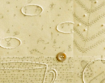 Notes From The Ancestors no. 15 / Mixed Media Drawing with Stitching