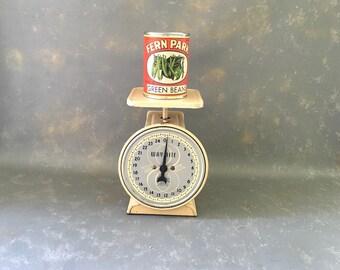 Vintage Kitchen Scale, Metal Scale, 1950s Scale, Way Rite, Kitchen Decor