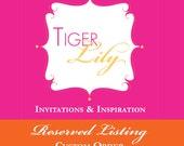 Reserved listing - custom order for Desiree