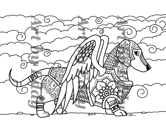 Art Of Dachshund Coloring Book Volume No 1 Physical By