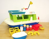 Vintage Fisher Price Houseboat with Life Preservers