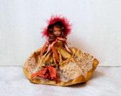 Nancy Ann Storybook Doll, For December Just a Dear #198, Vintage 1940s