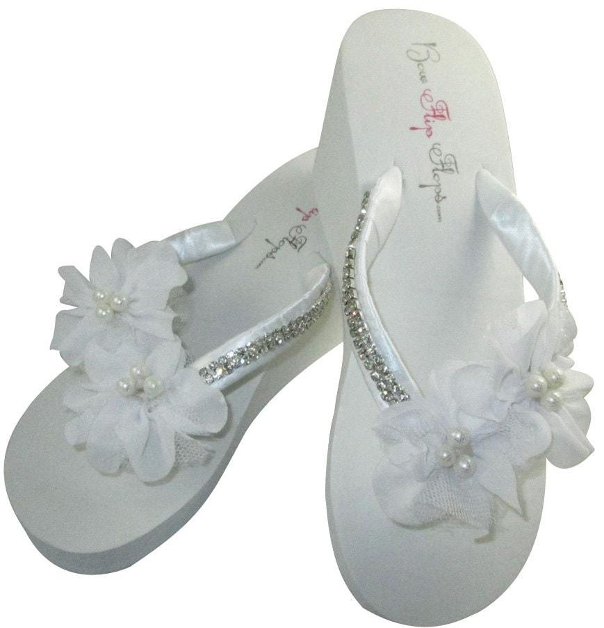 Bridal Flip Flops Wedding Flip Flops Bridal Flip Flops Flower-5479