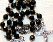 Black and silver St. Pio Rosary
