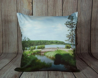 Pillow Cover Nature Photo Pillow Decorative Throw Pillows for Couch Living Room Decor Blue and Green Throw Pillow Covers 24 x 24 Pillow